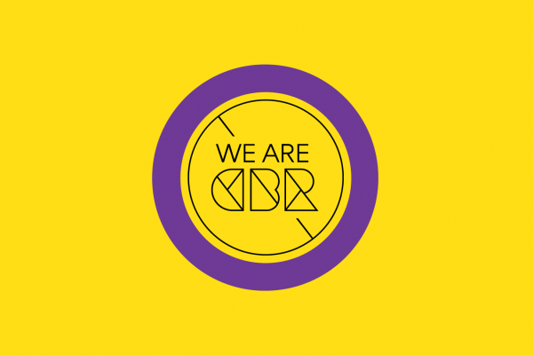 """We Are CBR"" logo"