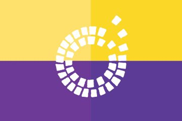Logo of the Darlington Consortium on a purple and gold background